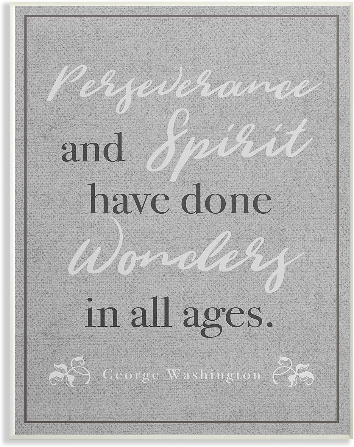 The Stupell Home Decor Collection Perseverance and Spirit Oversized Wall Plaque Art, 12.5 x 0.5 x 18.5, Proudly Made in USA