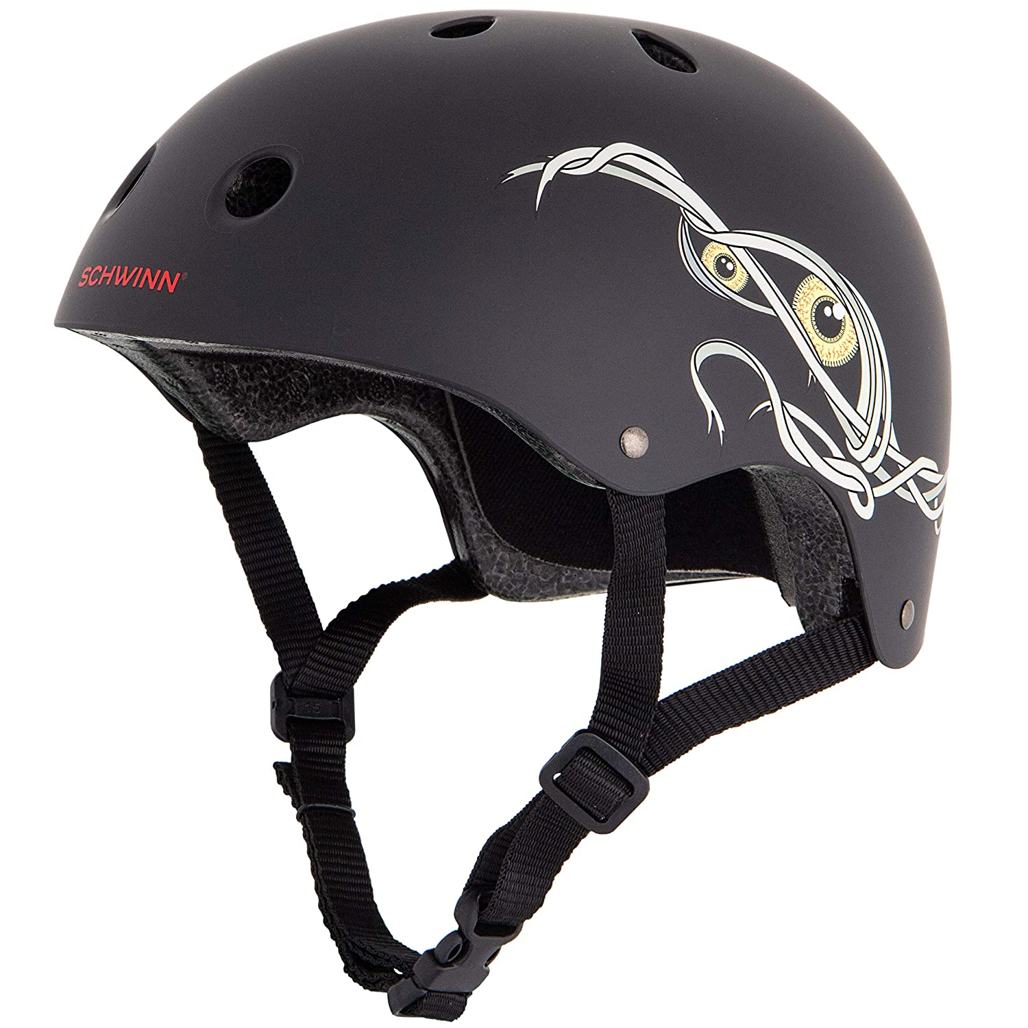 Schwinn Boy The Mummy BMX-Helm, Schwarz, M Pacific Cycle HESW99775011