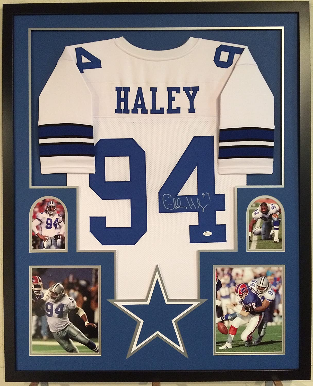 Charles Haley Autographed Custom Framed Dallas Cowboys Jersey JSA ...