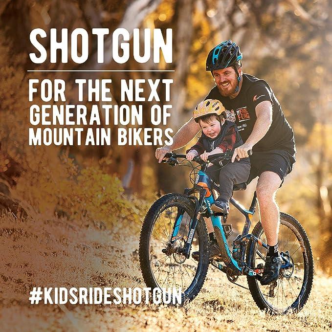 SHOTGUN Asiento infantil para bicicletas de montaña | Asientos delanteros para niños de 2 a 5 años (hasta 48 lbs.) | Compatible con todas las MBT para adultos | Fácil de instalar:
