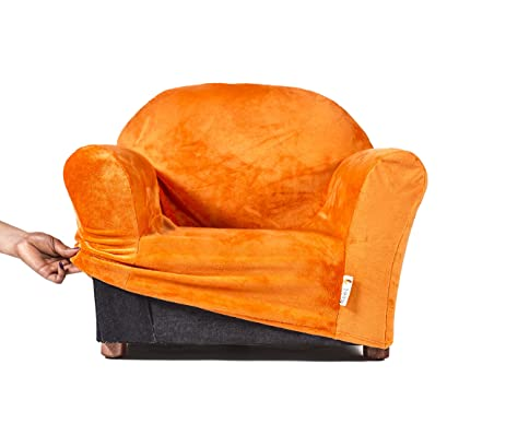 Keet Roundy Kids Chair COVER ONLY, 9 Colors Available (Orange)