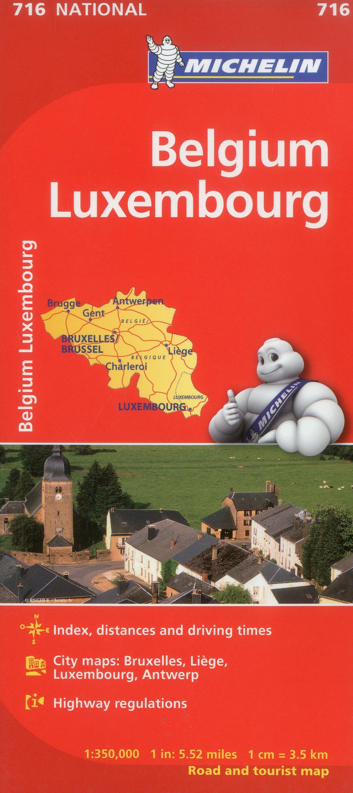michelin belgium luxembourg maps 716 mapscountry michelin michelin 9782067170698 amazoncom books