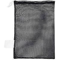 Champion Sports Mesh Sports Equipment Bag - Multipurpose Nylon Drawstring Sack with Lock and ID Tag for Balls, Beach…