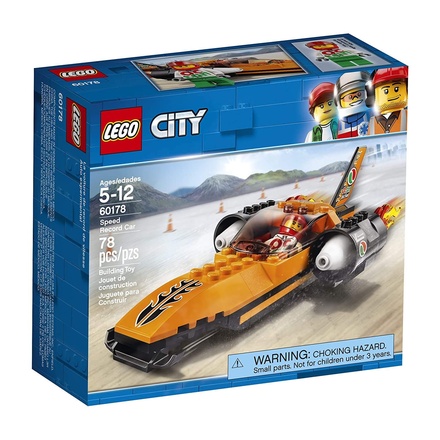 LEGO City Speed Record Car 60178 Building Kit (78 Piece) 6209741