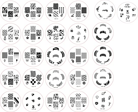 Great value and quality set of 26 nail art nailart stamp plates great value and quality set of 26 nail art nailart stamp plates stamper templates prinsesfo Choice Image