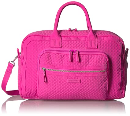 ce9a43ff3 Vera Bradley Iconic Compact Weekender Travel Bag, Microfiber, Rose Petal
