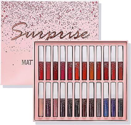 Top Beauty 24 unids/set lápiz labial líquido mate impermeable ...