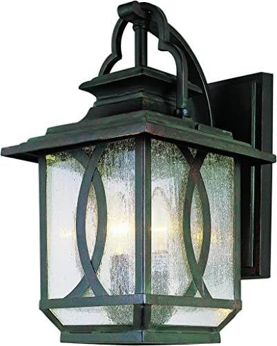 Trans Globe Lighting Trans Globe Imports 5192 BRT Transitional Three Light Wall Lantern from San Jose Collection in Bronze Dark Finish, Burnished Rust