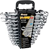 Performance Tool W1069 22-Piece SAE/Metric Polished Combo Wrench Set
