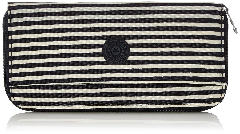 Kipling Travel Doc, Cartera para Mujer, Varios Colores (Marine Stripy), 15x24x45 centímetros (W x H x L)