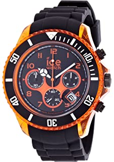 3ff4da6fb2209 Ice-Watch Chronograph Black and Yellow Big Silicone Watch CH.BY.B.S. ...
