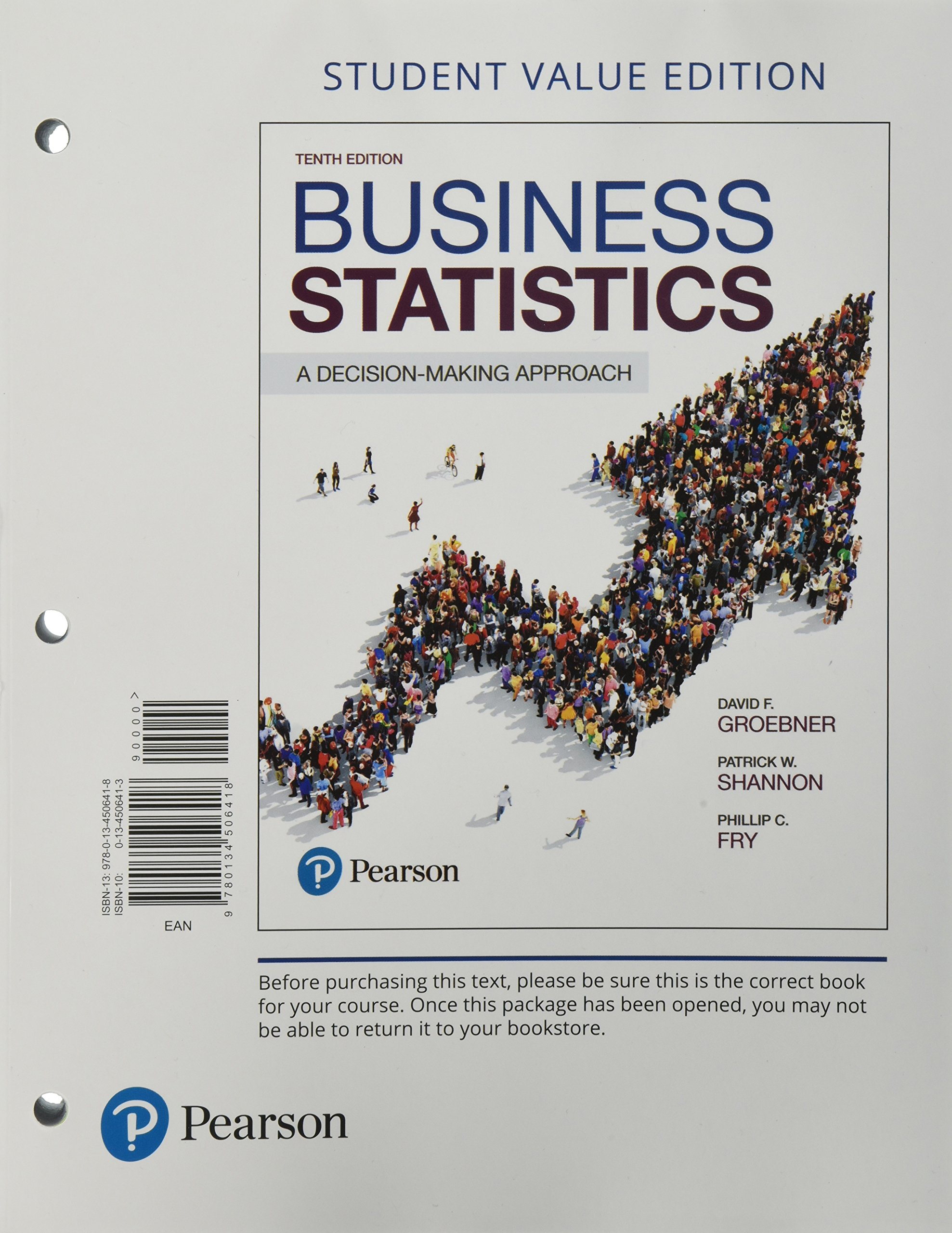 dd1d9a786 Business Statistics: A Decision Making Approach, Student Value Edition  (10th Edition) Loose Leaf – Student Edition, Jan 5 2017