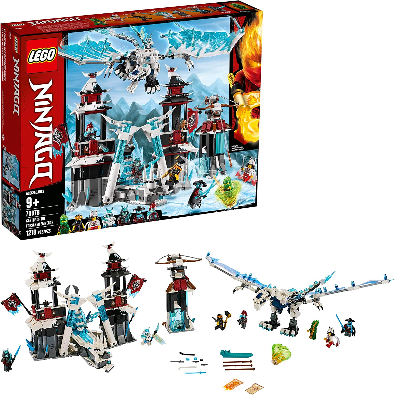 LEGO NINJAGO Castle of the Forsaken Emperor 70678 Building Kit, New 2019 (1,218 Pieces)