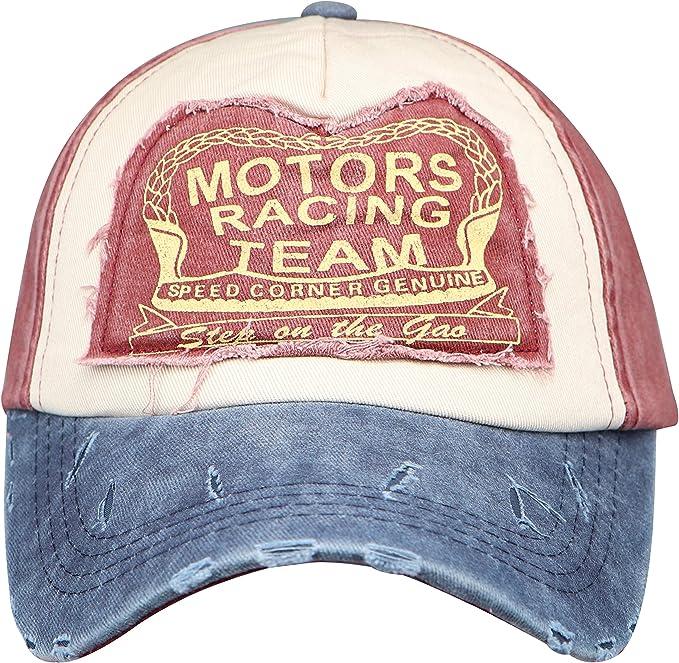 Basecap Motor Racing Team Schirmmütze Herren Damen Unisex 7 Farben Vintage