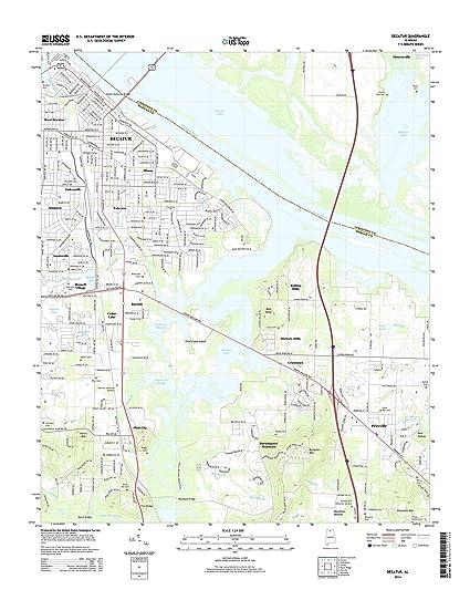 Amazon.com: Topographic Map Poster - DECATUR, AL TNM GEOPDF 7.5X7.5 ...