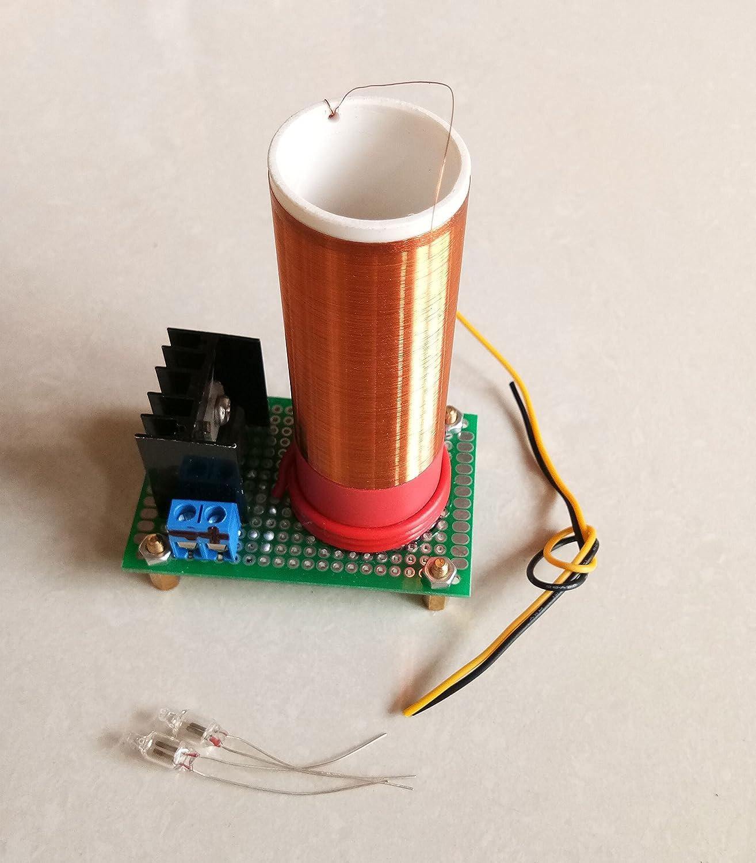 Sunnytech®12V Mini Tesla Coil Wireless Transmission Portable Magic Prop Teaching Toy JX02 Sunnytech®