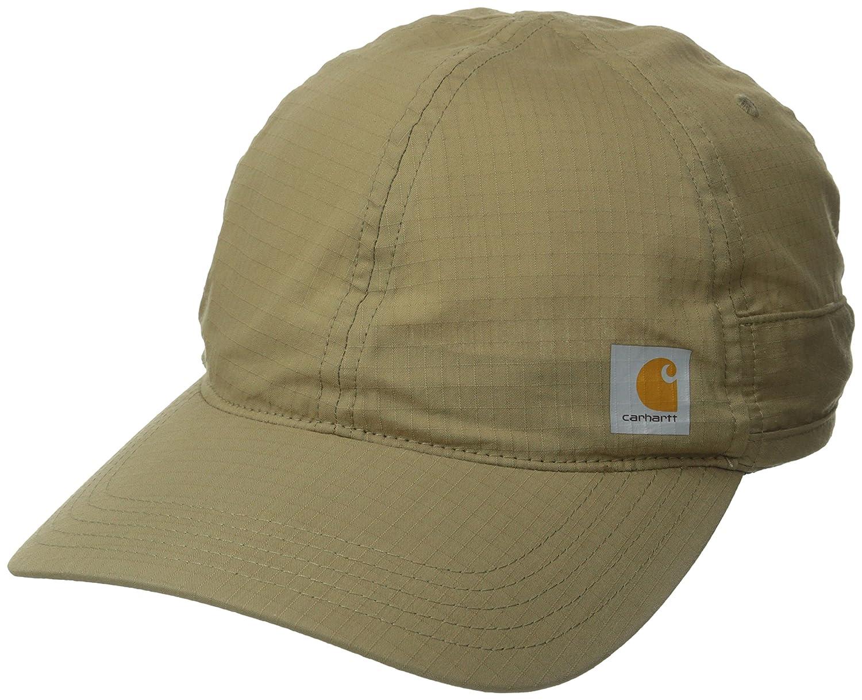 3efaa7280ccb4 ... sweden carhartt mens moisture wicking force mandan cap stain blocker dark  khaki one size at amazon