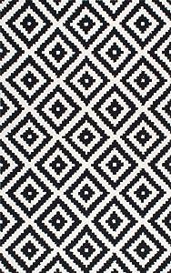 nuLOOM Kellee Contemporary Wool Area Rug, 6' x 9', Black