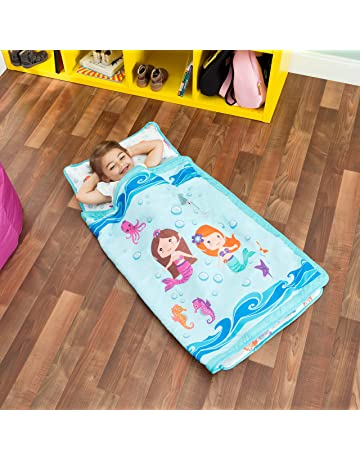 2183d61c3f1a Everyday Kids Toddler Nap Mat with Removable Pillow -Underwater Mermaids-  Carry Handle with Fastening