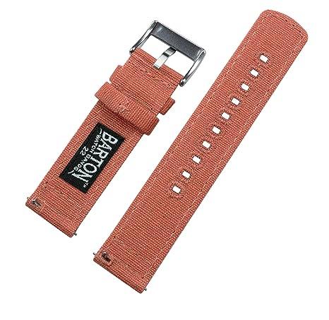 Barton Watch Bands - Correas de tela para reloj de pulsera con cierre  rápido - Disponible en varios colores y anchos (18mm bc180a864f91