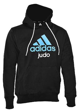 Con Sudadera Para Azul Capucha Y Adidas Judo Negro Hombre Mediano ExqCBAw