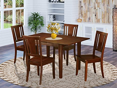 Amazon Com 5 Pc Small Kitchen Table With 4 Dining Table Chairs Furniture Decor