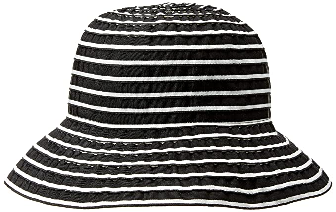 9b3d11587ac34 San Diego Hat Company Crush Roll Up Travel Small Brim Bucket Hat  (Black/White): Amazon.co.uk: Clothing