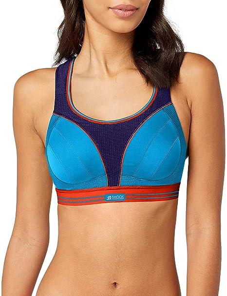 Shock Absorber Ultimate Run Bra, Sujetador Deportivo para Mujer, Multicolor (Violet Foncé/Bleu Profond Beige 08t), 95B: Amazon.es: Ropa y accesorios