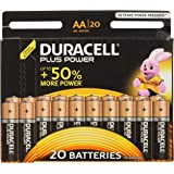 Duracell LR6/MN1500 Plus Power AA Size Batteries, 20 Batteries