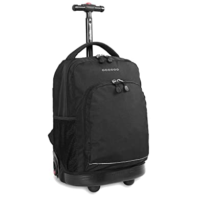 Amazon.com | J World New York Sunny Rolling Backpack, Black, One ...