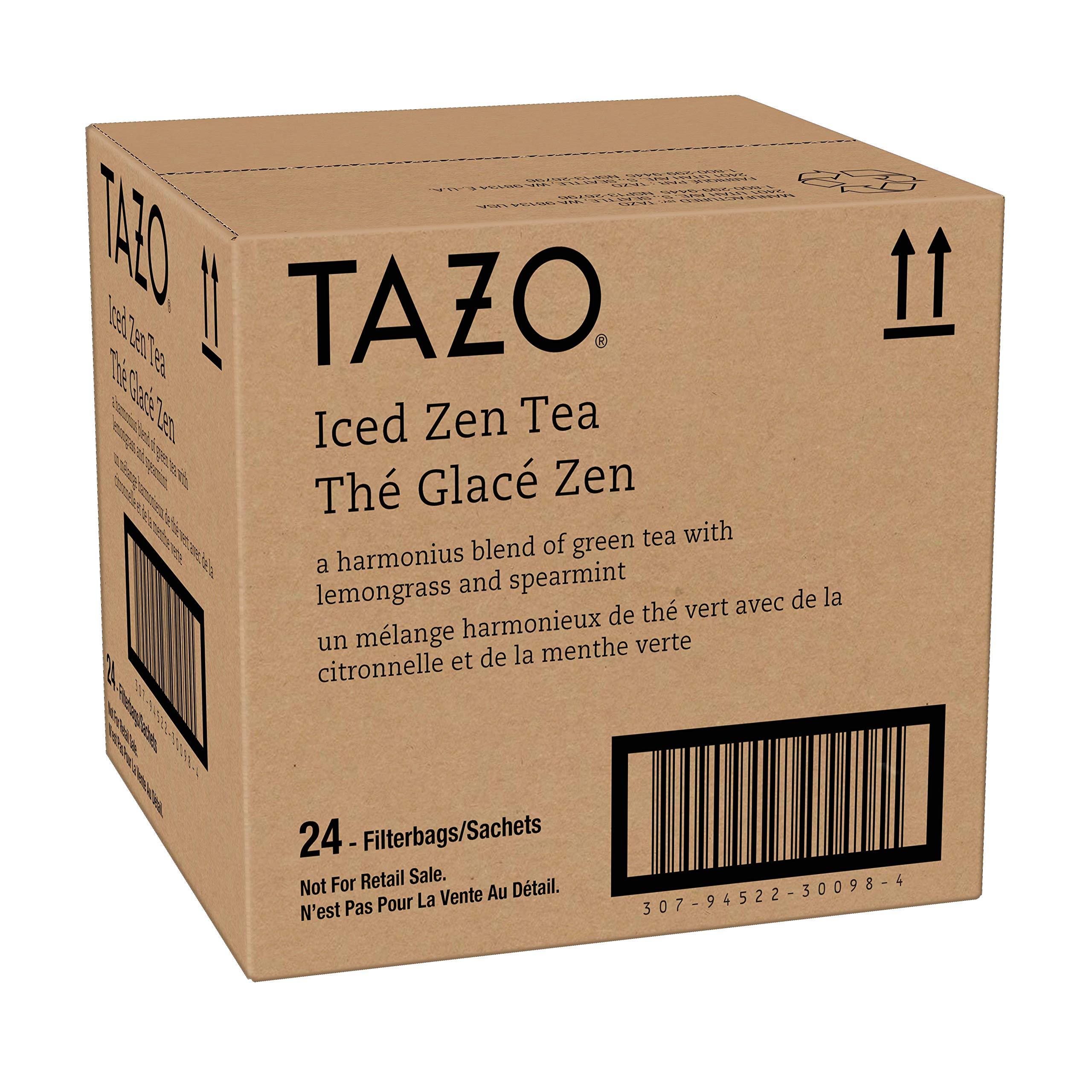Tazo Zen Green Unsweetened Fresh Brewed Iced Tea Non GMO, 1 gallon, Pack of 24 by TAZO (Image #4)