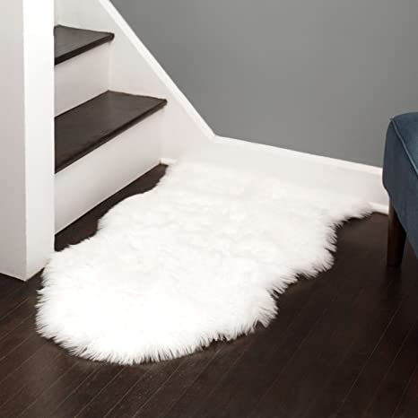 faux white fuzzies collections products rug sheepskin plus warm factory area real fur place