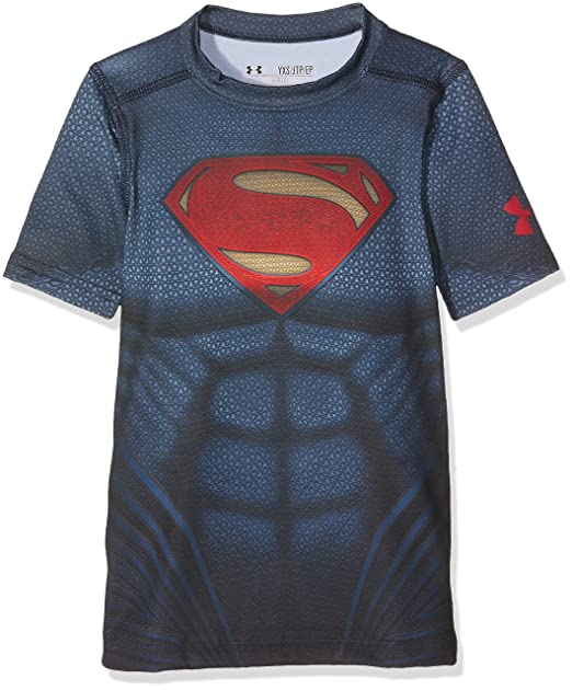 wyprzedaż resztek magazynowych najlepiej tanio tanio na sprzedaż Under Armour Kids Mens Superman Suit Short Sleeve (Big Kids)