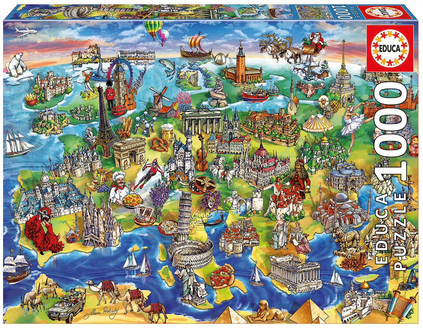 európa térkép gps re Amazon.com: Educa European World Puzzle (1000 Piece): Varios: Toys  európa térkép gps re