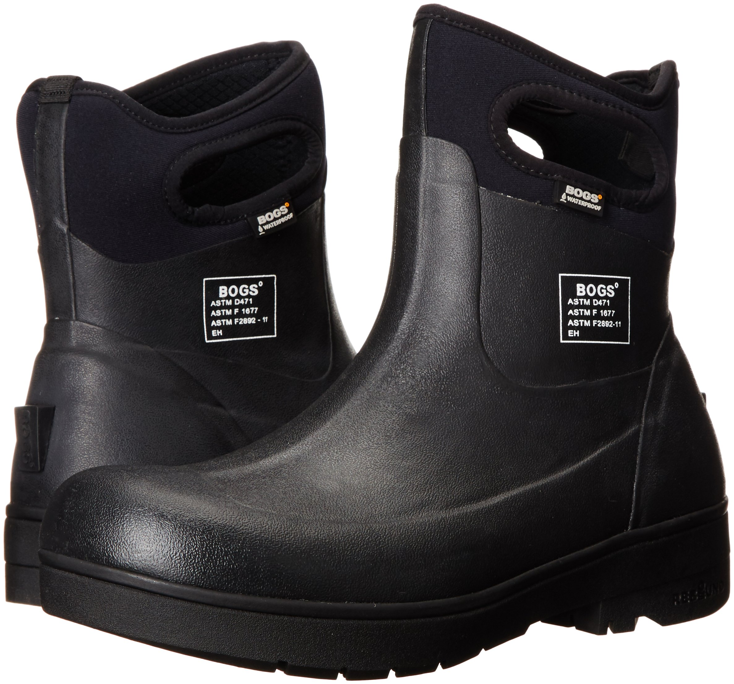 Bogs Men's Turf Stomper Insulated Work Boot, Black, 12 M US by Bogs (Image #6)