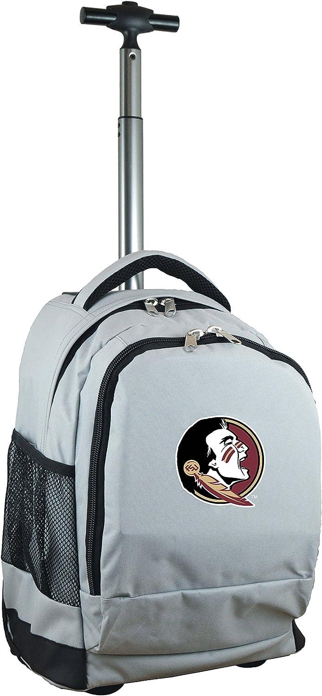 NCAA Wheeled Backpack, 19-inches, Grey