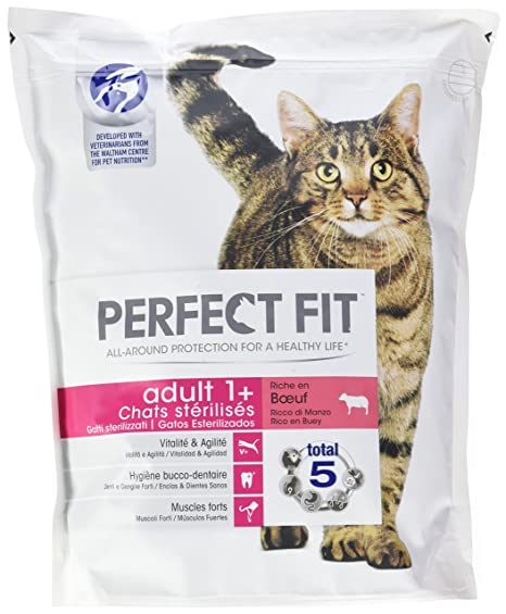 PERFECT FIT Adulto Sterilise – Pienso AU Buey para Gatos 1,4 kg – Juego