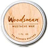 Woodsman Mustache Wax 1 Ounce Tin of Strong All Day Hold Mustache Wax, with Beeswax, Lanolin and Jojoba Oil, Men's Care…