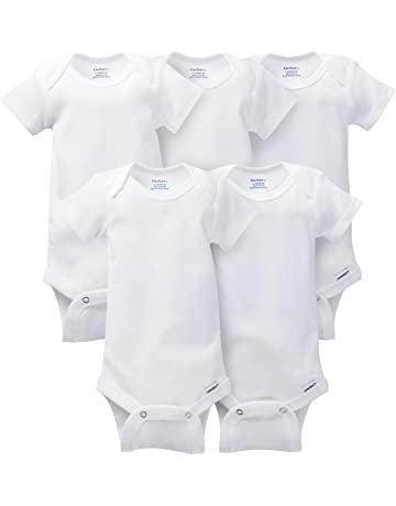 9d3e6eb62be Gerber Baby 5-Pack Solid Onesies Bodysuits