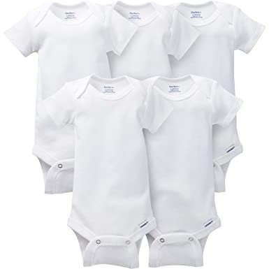 5027ca3a0 Amazon.com: Gerber Baby 5-Pack Solid Onesies Bodysuits: Clothing