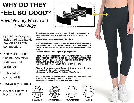 YUNOGA - Pantalones de Yoga para Mujer, Cintura Alta, 4 Posiciones ...