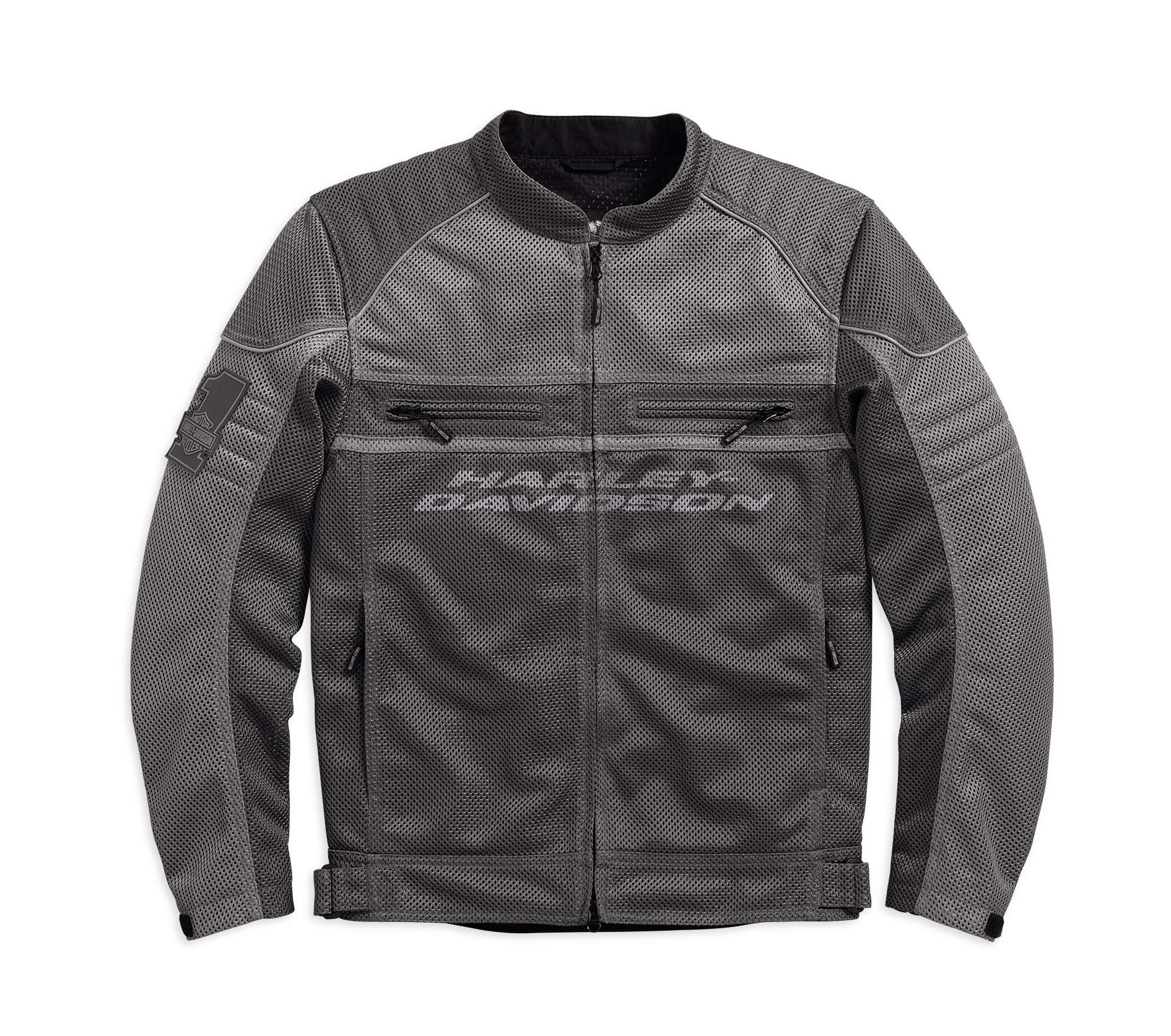 Harley-Davidson Official Men's Affinity Mesh Riding Jacket, Grey (X-Large)