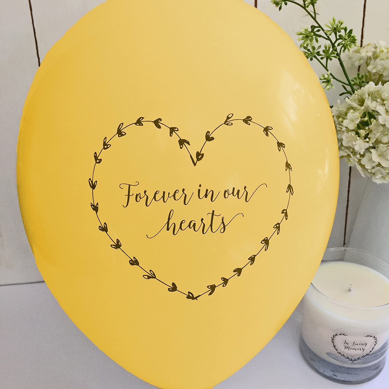 Angel & Dove Globos de condolencia con mensaje en inglés «Forever ...
