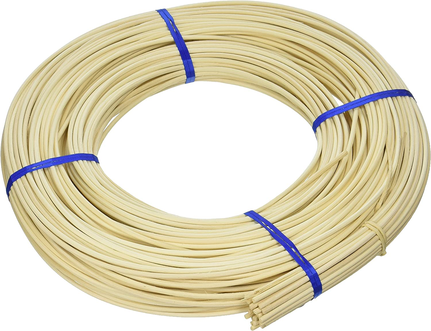 Approximately 360-Feet Commonwealth Basket Round Reed #5 3-1//4mm 1-Pound Coil