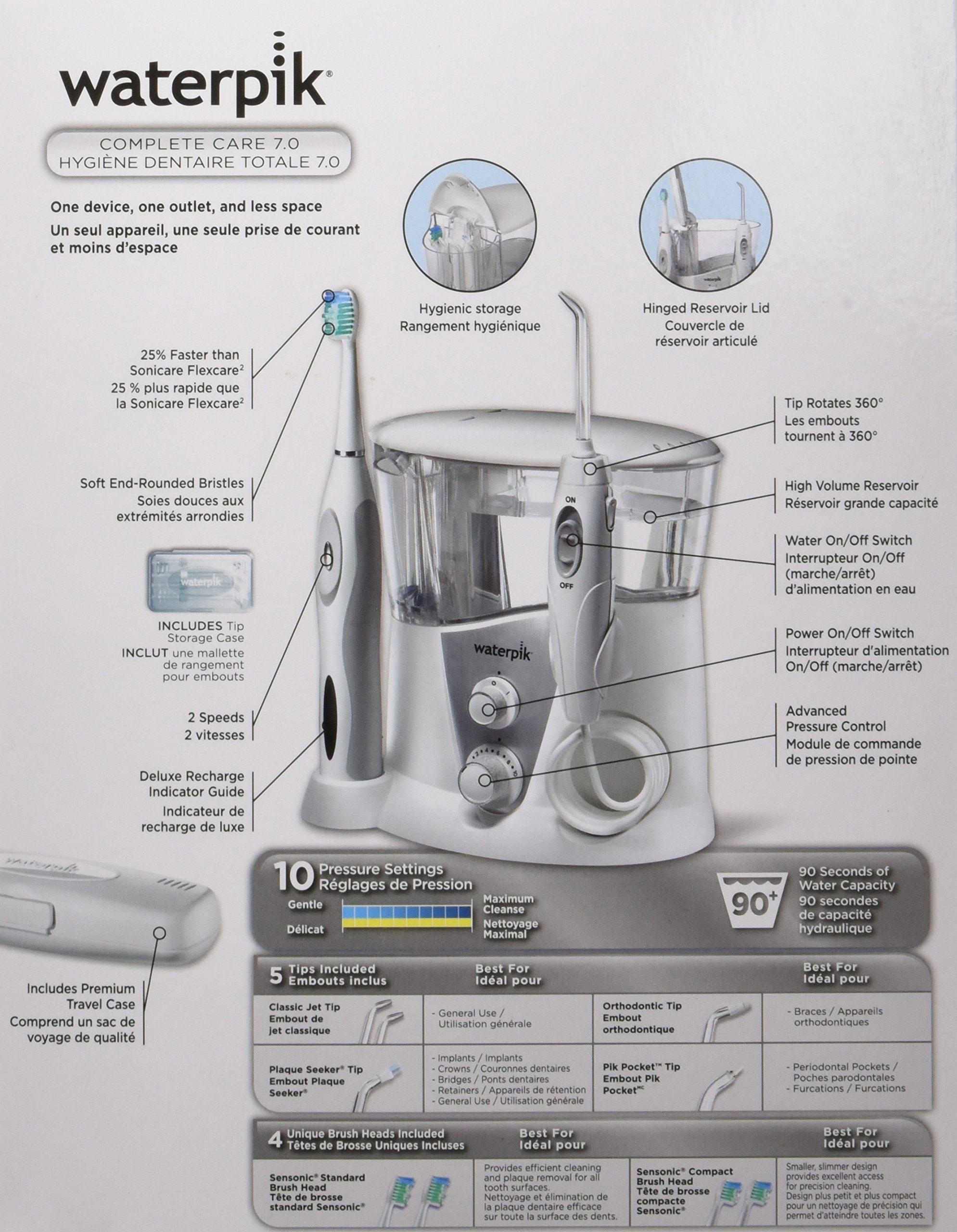 Waterpik WP-950 Complete Care 7.0 Water Flosser and Sonic Tooth Brush by Waterpik (Image #21)
