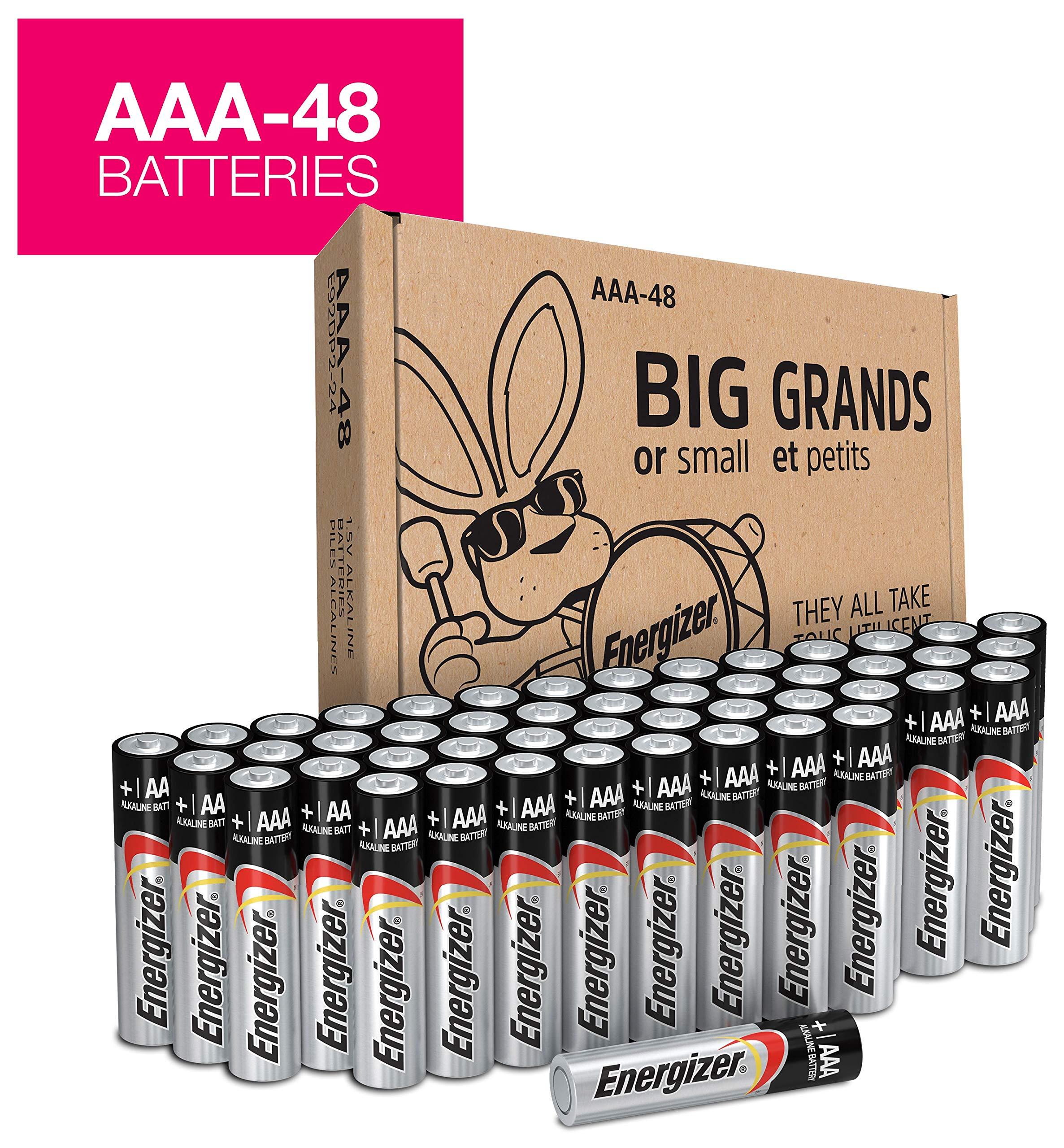 Energizer MAX Alkaline AAA Batteries, 48 Pack