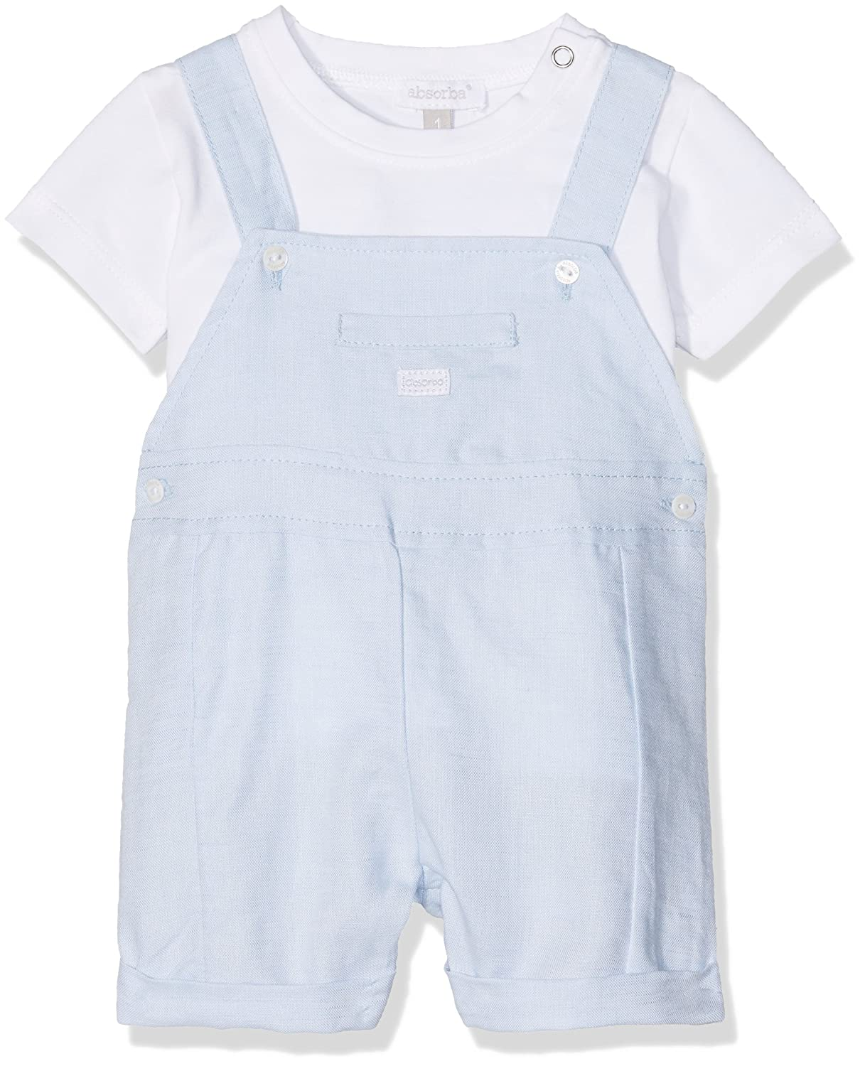 Absorba Baby Boys' Very Chic Lg Clothing Set Blue (Ciel) FR (Size: 6 Months) Absorba Boutique 9J37062