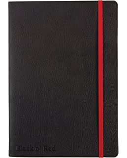 Oxford Black n/' Red A6 Hardback Casebound Business Journal Ruled and Numbered N