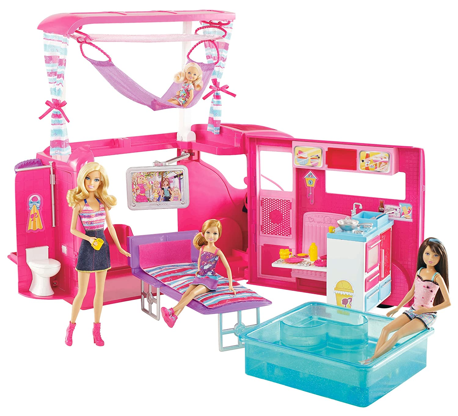 barbie auto camping