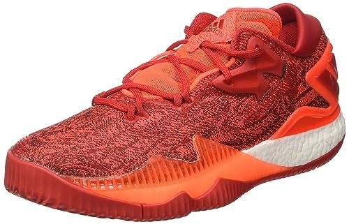 adidas Crazylight Boost Lo, Scarpe da Basket Uomo, (Solred/Scarle/Ftwwht